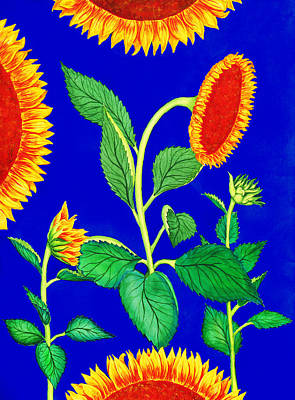 Sunflowers Print by Palmer Stinson