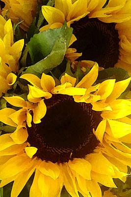 Sunflowers Tall Original by Amy Vangsgard
