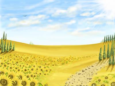 Sunflowers Painting - Sunflowers by Veronica Minozzi
