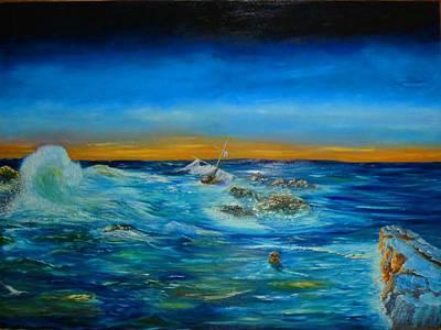 Pirate Ship Painting - Sunken Paradise by Paul Michael Light