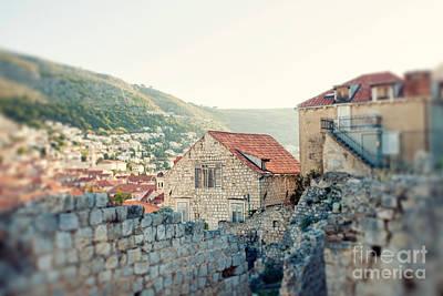 Sunkissed Dubrovnik Croatia Print by Erin Johnson