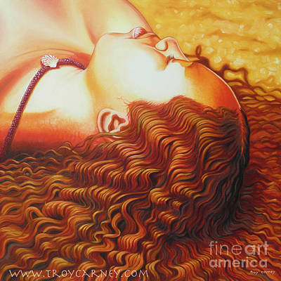 Goddess Painting - Sunkissed Kaho Sold by Troy Carney