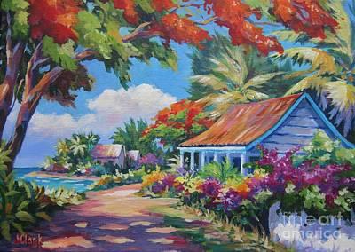 Bahamas Landscape Painting - Sunlight And Shade by John Clark