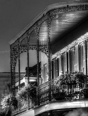 Sunlight On New Orleans Balcony Print by Greg and Chrystal Mimbs