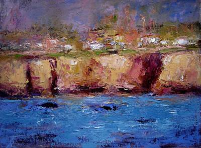 Sunlight On The Cliffs Print by R W Goetting