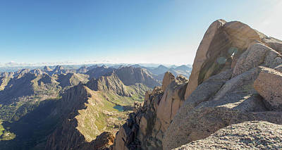 Landscape Photograph - Sunlight Peak Summit Block by Aaron Spong