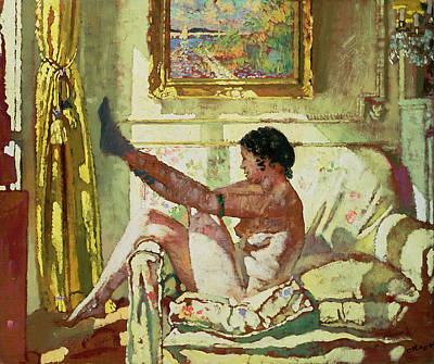 Bed Painting - Sunlight by Sir William Orpen