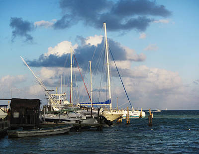 Clouds Photograph - Sunlit Harbor by Marilyn Hunt
