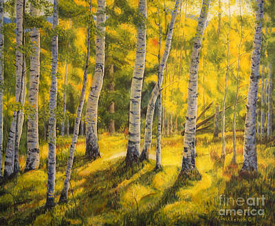 Traditional Painting - Sunny Birch by Veikko Suikkanen