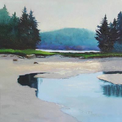 Etc. Painting - Sunny Break At Strawberry Creek by Sheila Psaledas