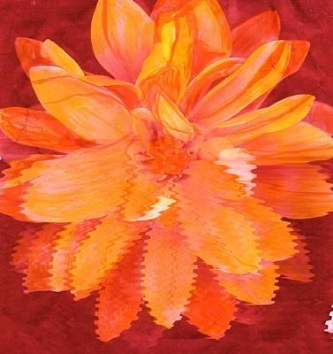 Sunny Burst Of Color Floral Print by Anne-Elizabeth Whiteway