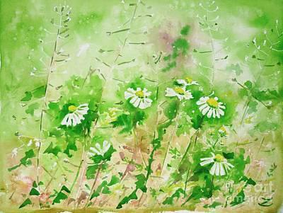Sunny Daisies Original by Zaira Dzhaubaeva