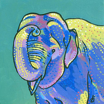 Sunny Elephant Print by Dorothy Jenson