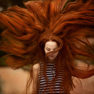 Red Photograph - sunny Katia by Anka Zhuravleva