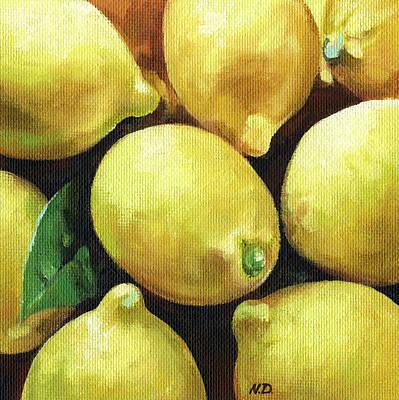 Lemon Painting - Sunny Lemons by Natasha Denger