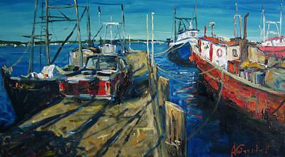Sunny Pier Print by Alexei Biryukoff