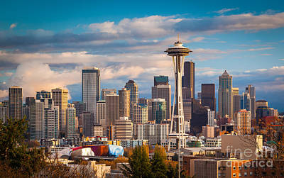 Sunny Seattle Print by Inge Johnsson
