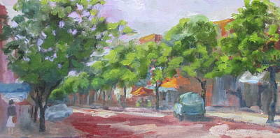 High Side Painting - Sunny Side Of The Street by Susan Richardson