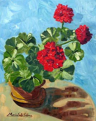 Painting - Sunny Spanish Geranium by Maria Soto Robbins