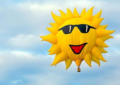Funny Photograph - Sunny Sunrise Hot Air Balloon by Bob Orsillo