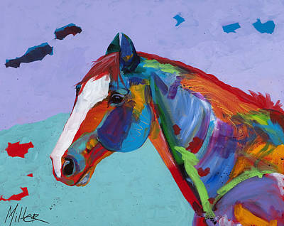 Horses In Art Painting - Sunny by Tracy Miller