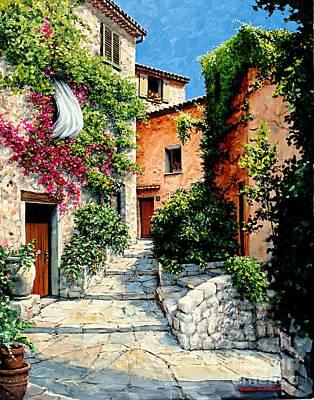 Michael Swanson Painting - Sunny Walkway by Michael Swanson