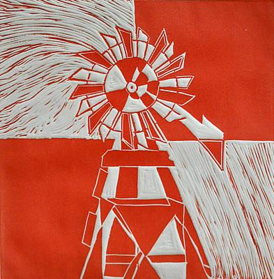 Sunny Windmill Print by Verana Stark
