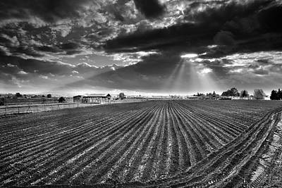 Sunrays Over Old Dryer Tobacco Print by Guido Montanes Castillo
