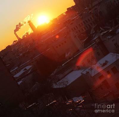 Moscow Skyline Photograph - Sunrise  by Anna Yurasovsky