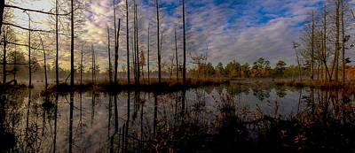 Sunrise Along The Mullica River In Pinelands Print by Louis Dallara