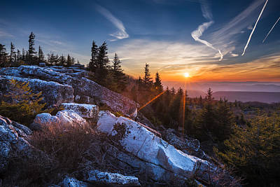 Sunrise At Bear Rocks Original by Eduard Moldoveanu