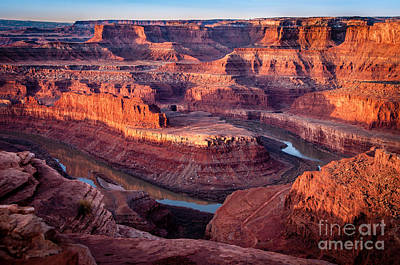 Sunrise At Dead Horse Point Print by Bob and Nancy Kendrick