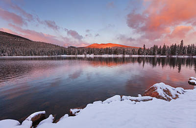 Sunrise At Echo Lake Print by Darren  White