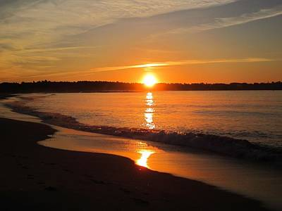 Photograph - Sunrise At Pine Point Beach Maine by Patricia Urato