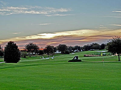 Sunrise At The Golf Course Print by Dennis Dugan