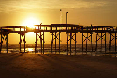 North Carolina Sunrise Digital Art - Sunrise At The Jolly Roger Pier 2 by Mike McGlothlen