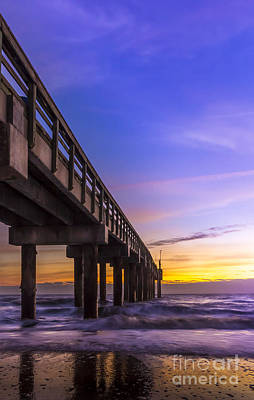 Sunrise At The Pier Print by Marvin Spates