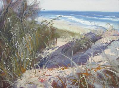 Painting - Sunrise Beach Dunes Sunshine Coast Qld Australia by Chris Hobel