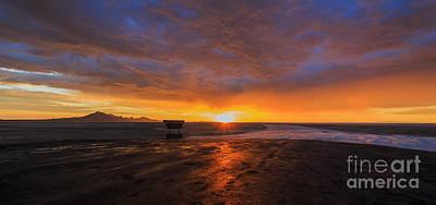 Sunrise- Bonneville Salt Flats II Print by Holly Martin