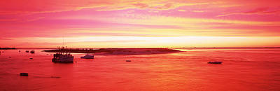 Cape Cod Photograph - Sunrise Chatham Harbor Cape Cod Ma Usa by Panoramic Images