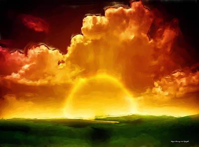 Sunrise Explosion Print by Wayne Bonney