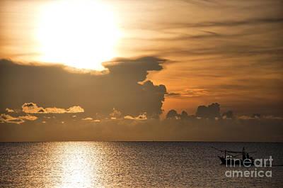 Sunrise Fisherman 01 Print by Antony McAulay