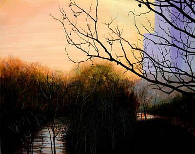 Sunrise From Shepherd St. Bridge Print by Wm Kelly Bailey
