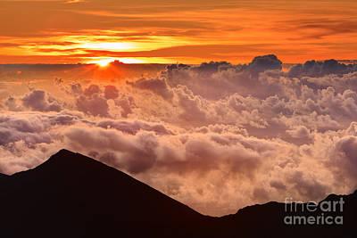 Sunrise Haleakala National Park - Maui Print by Henk Meijer Photography