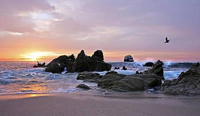 Sunrise In Cabo San Lucas Print by Marcia Colelli