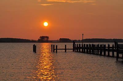 Md Digital Art - Sunrise In Piney Point Md by Bill Cannon