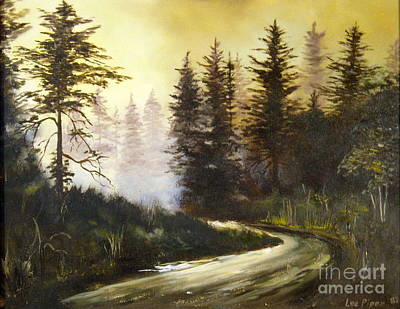 Serenity Scenes Painting - Sunrise In The Forest by Lee Piper