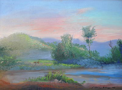 Palo Cedro Painting - Sunrise In The Mountains by Patricia Kimsey Bollinger