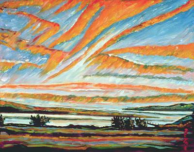 Quebec Painting - Sunrise Les Eboulements Quebec by Patricia Eyre