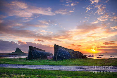 Sunrise Lindisfarne Hdr Print by Tim Gainey